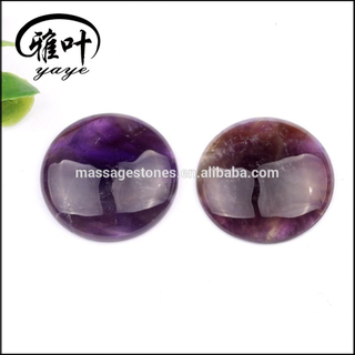 Natural Amethyst Round Cabochon Gemstone For Jewelry Making