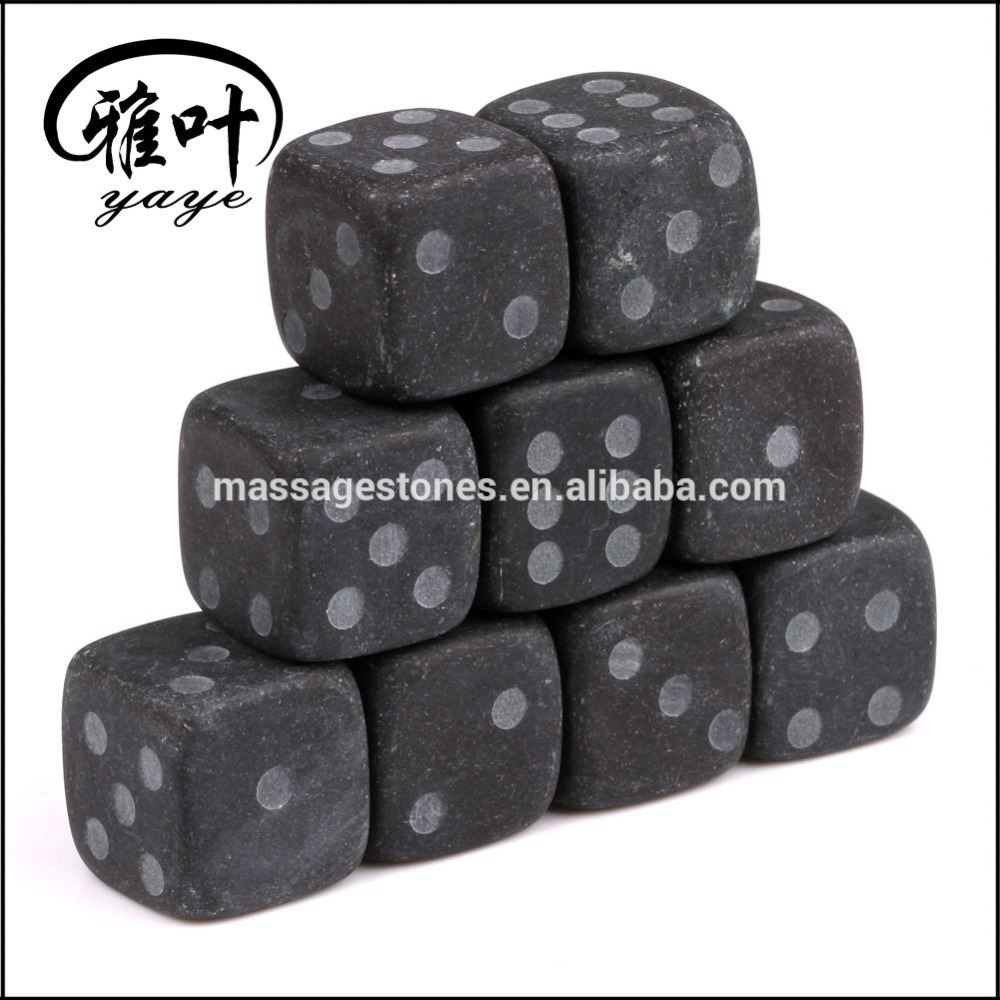 Wholesale Whisky Stone FDA Certificated Black Marble Ice Cube