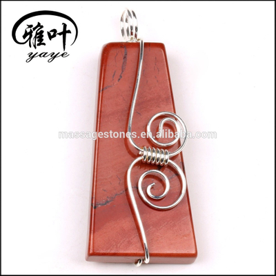 Trapezoid Red jasper pendant jewelry for gifts