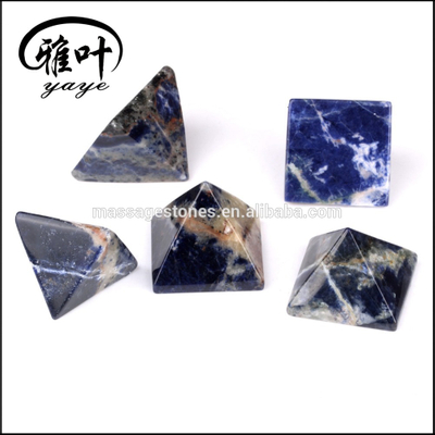 Factory Selling Natural Sodalite Pyramids as Christmas Gifts