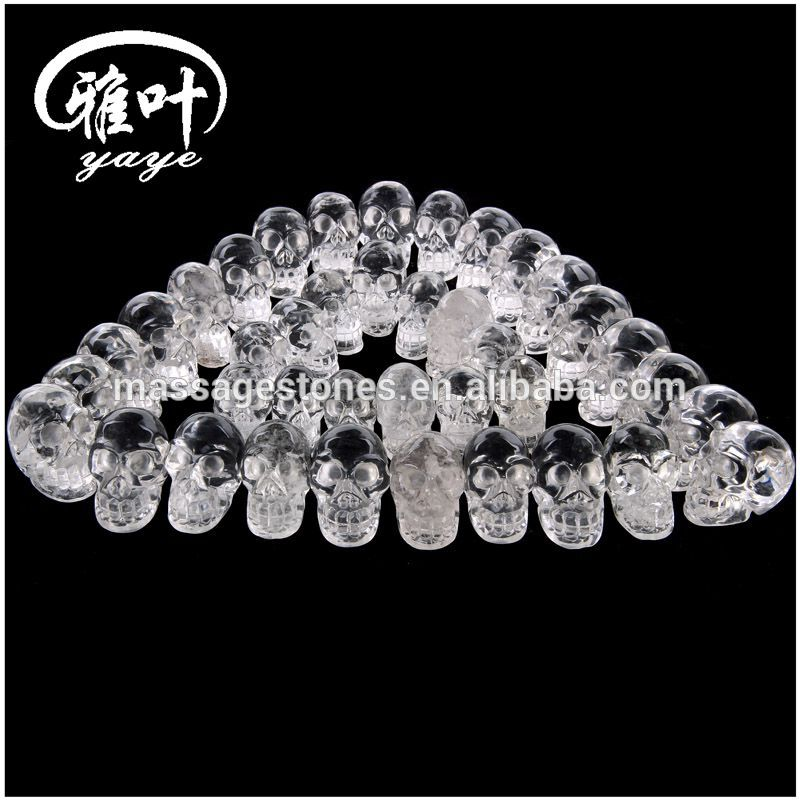 Natural Crystal Quartz Handcrafts Skull Carving