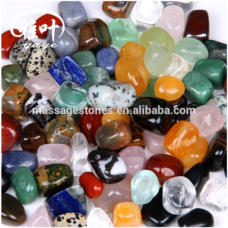 Bulk Wholesale Mixed Color Tumbled Stones Display