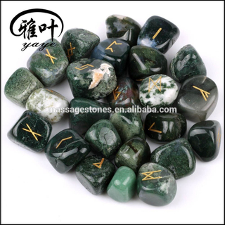 Wholesale Natural Semi Precious Agate Reiki Healing Rune stone Set