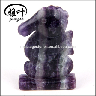 Wholesale Purple Fluorite Animal Carving