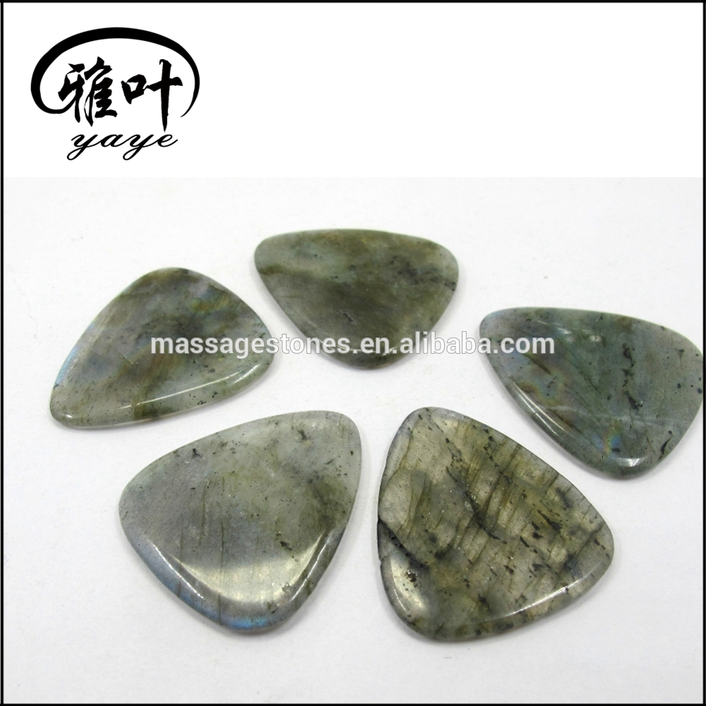 Natural Green Aventurine Gemstones Guitar Picks Crafts Stone Picks