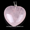 Beautiful Heart Shaped Rose Quartz Gemstone Crystal Jewelry as Gift