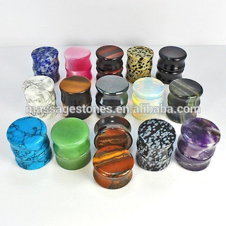 China Green Nature Stone Ear Plug Wholesale