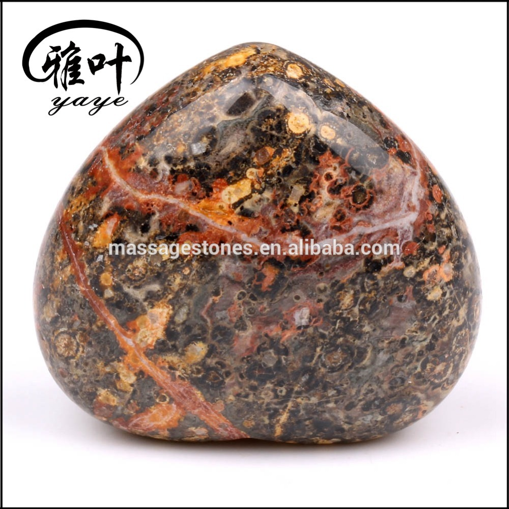 Wholesale Semi Precious Stone Worry Puffy Heart