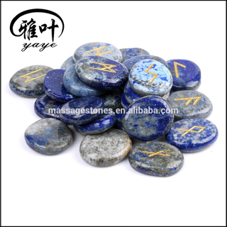 Wholesale Natural Gemstones Lapis Lazuli Stones Runes Engraving