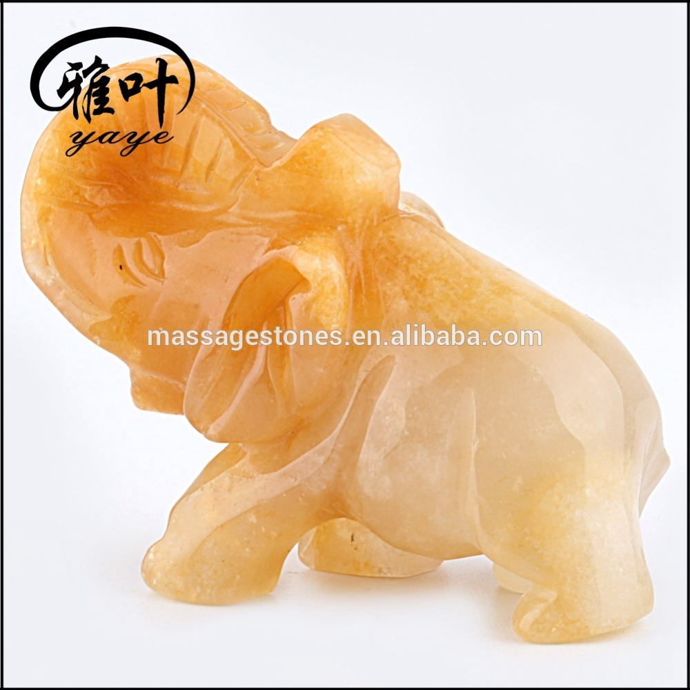 Bulk Wholesale Gemstones Yellow Jade Animal Figurines