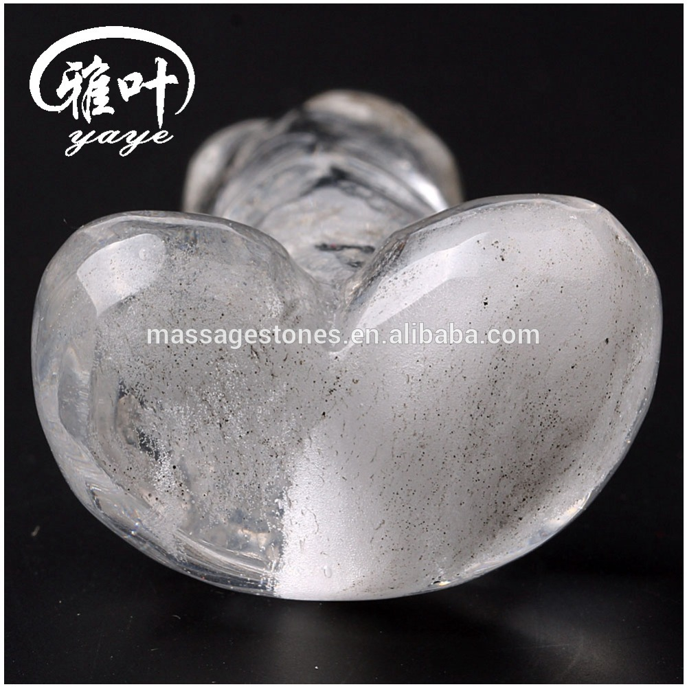 Wholesale clear quartz Crystal artificial penis diIdos sex toys gemstone penis
